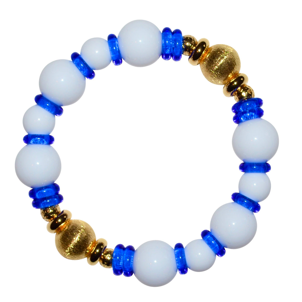 VIVIENNE BANGLE IN WHITE AND COBALT