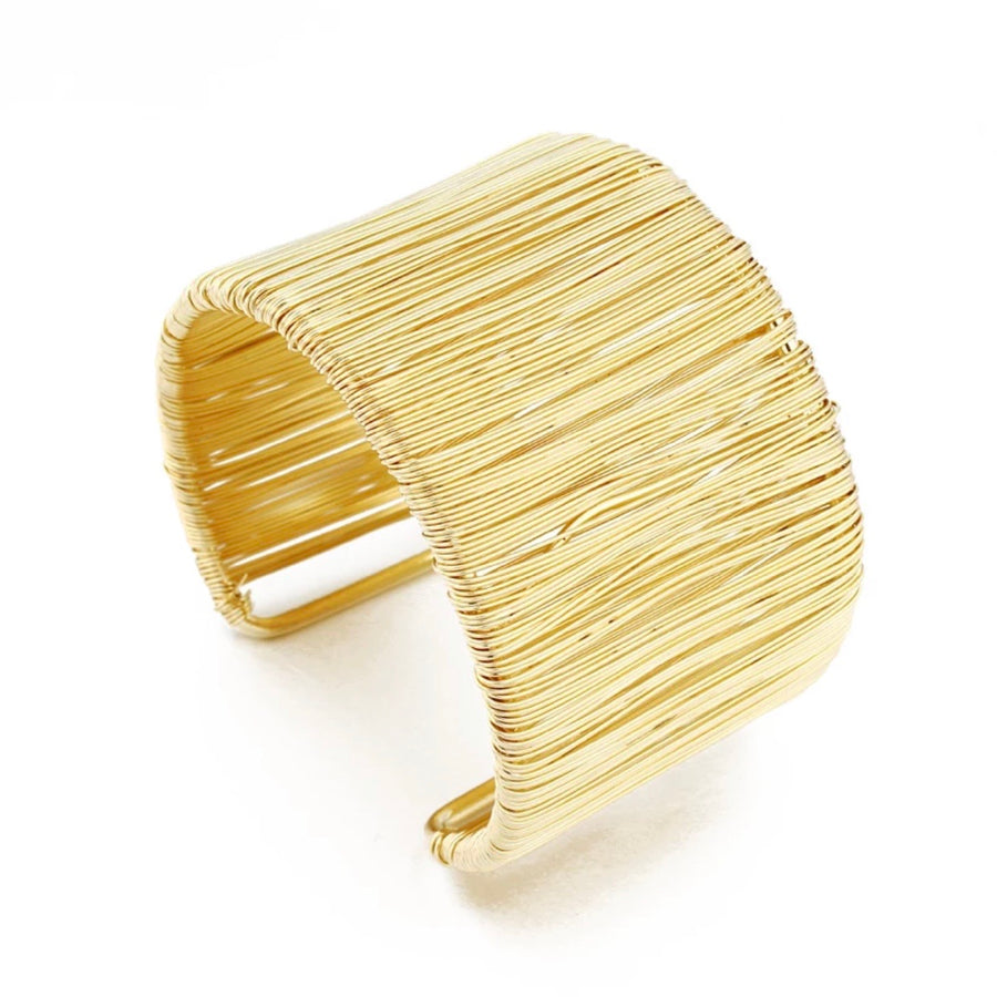 PRE-ORDER - SHIPS 10/3 - WIRE WRAPPED GOLD CUFF