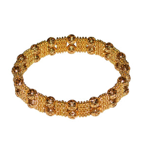 FIONA TEXTURED BRACELET IN GOLD