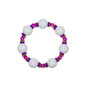 TATE HUDSON BANGLE IN SHINY WHITE AND PURPLE