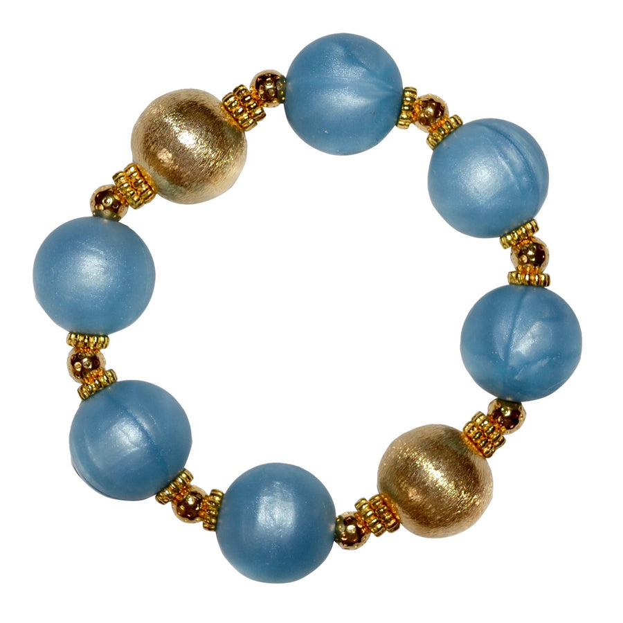 BIANCA STATEMENT BRACELET IN BLUE AND GOLD