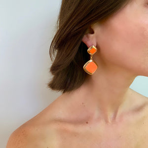 MEREDITH DROP EARRING IN ORANGE
