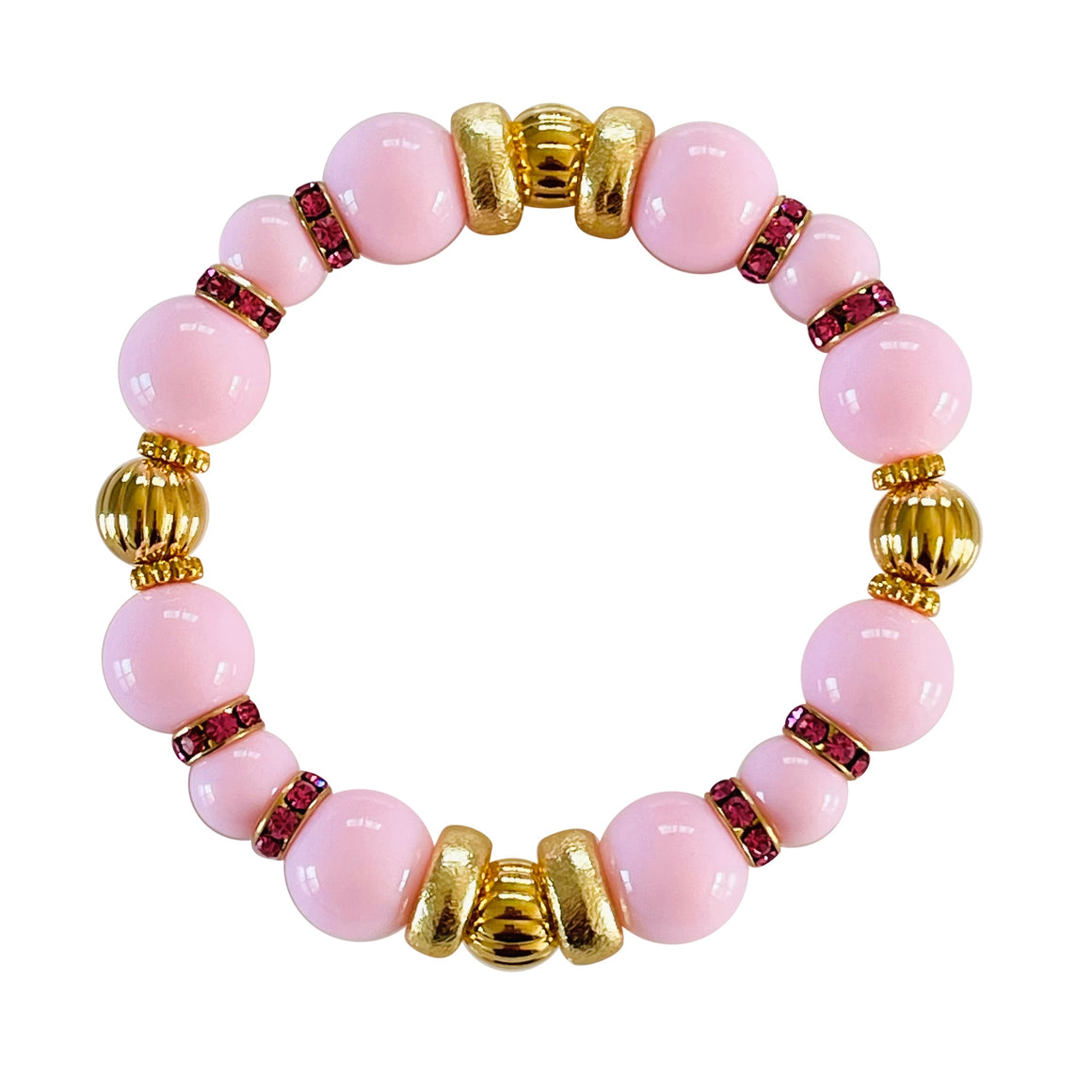 SHINY BANGLE IN LIGHT PINK