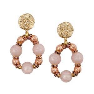 VALENTINES EARRING IN PINK AND ROSE GOLD EARRING