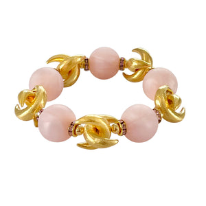 VALENTINES LUNA BANGLE IN LIGHT PINK WITH PINK CRYSTAL