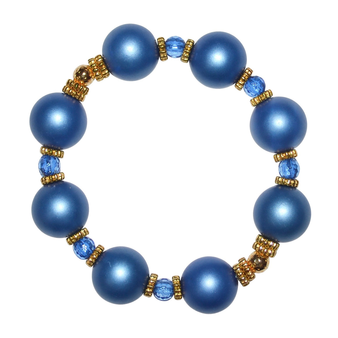 VIVIENNE BANGLE IN DARK BLUE MATTE PEARL