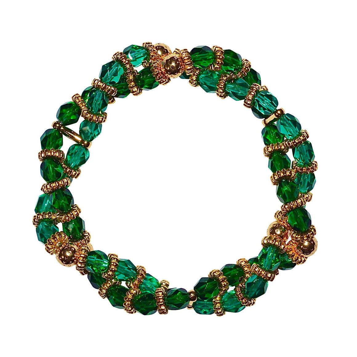 BIANCA LUCITE TWISTED BRACELET IN EMERALD
