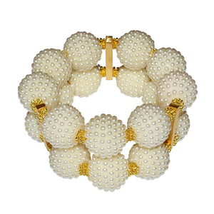 SCARLETT STATEMENT CUFF IN TEXTURED IVORY