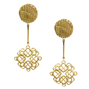 WOVEN DIAMOND DROP EARRING