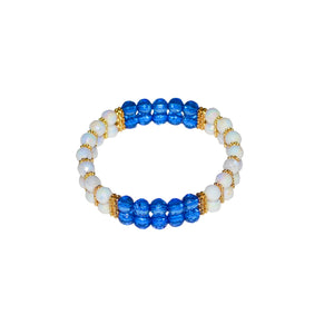 TATE HUDSON MINI CUFF IN WHITE AND BLUE