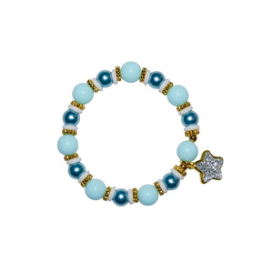 TATE HUDSON STAR CHARM WRISTLET IN LIGHT BLUE