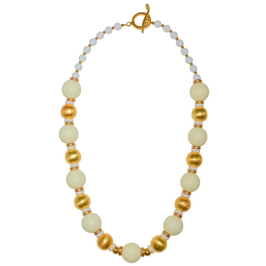 BLAKE LONG NECKLACE IN IVORY