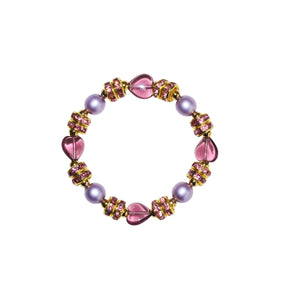 TATE HUDSON HEART BRACELET IN PINK & PURPLE