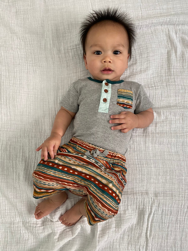 Infant Southwest Stripe Pocket One-Piece