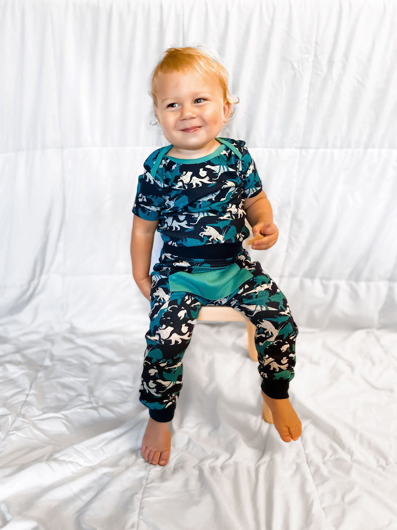 Infant Dino Print One-Piece