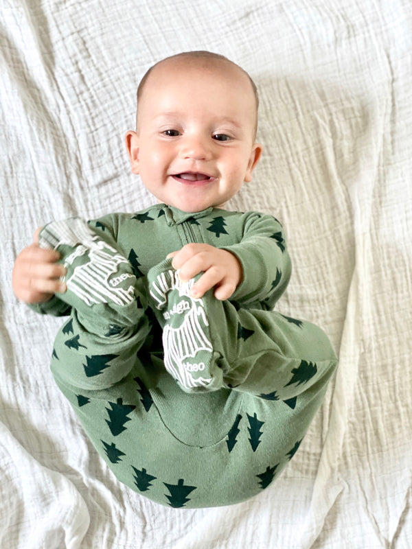 Infant Pine Tree Footie Pajamas