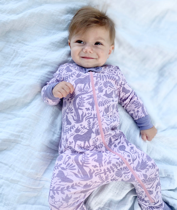 Infant Folk Forest Footie Pajamas