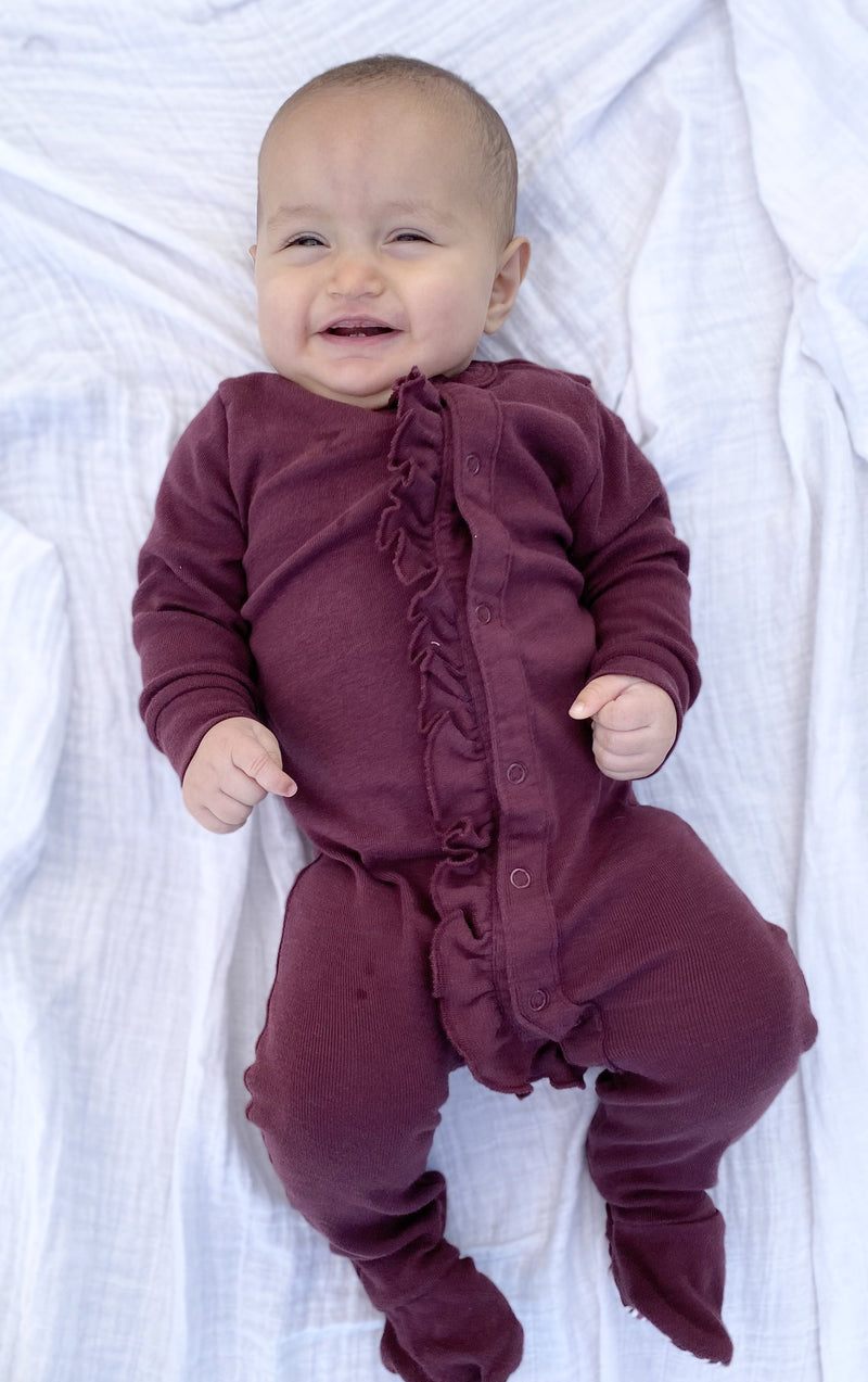 Infant Ruffle Footie Pajamas