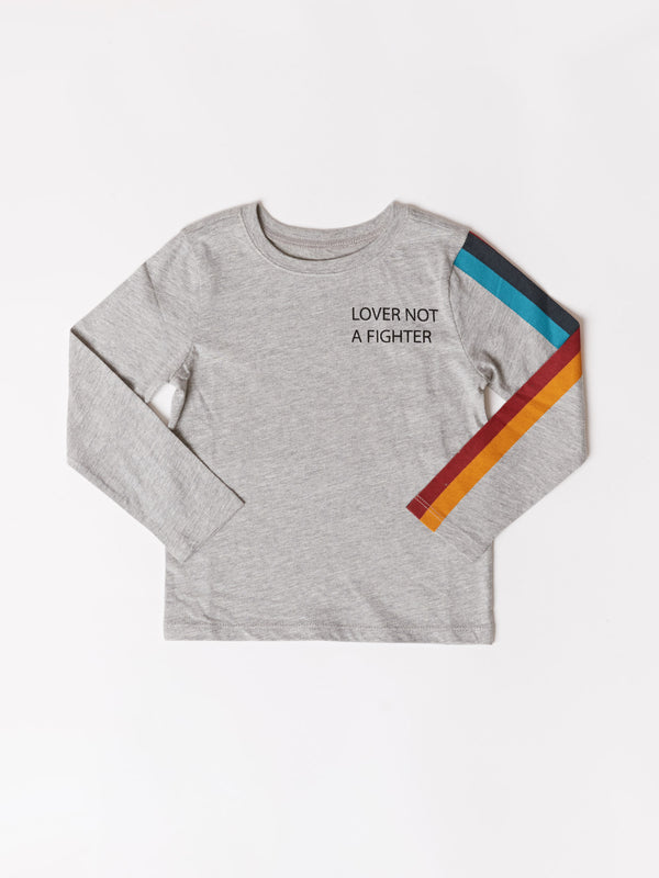 Toddler Stripe Graphic Ls Tee