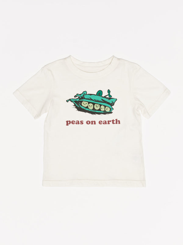 Kids Peas on Earth Graphic Tee