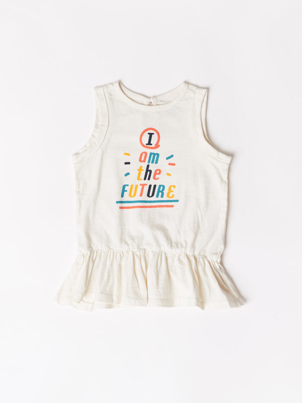 Toddler Future Graphic Peplum Top