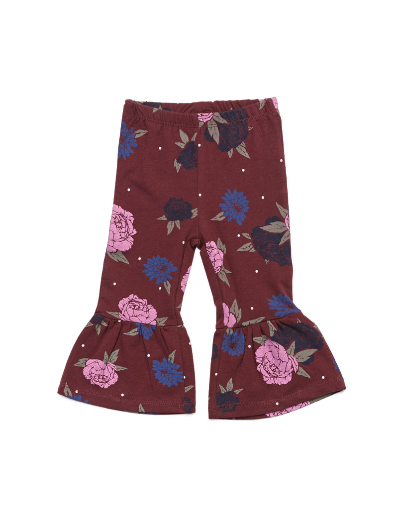 Infant Peony Floral Flare Pant