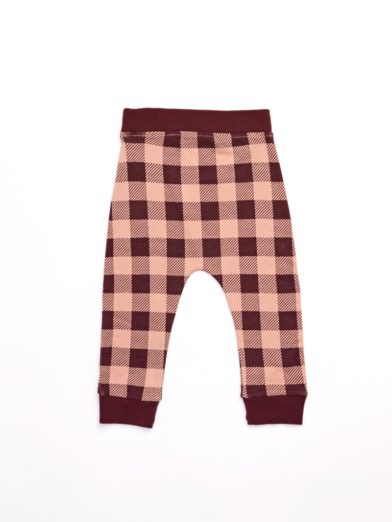 Infant Plaid Jogger