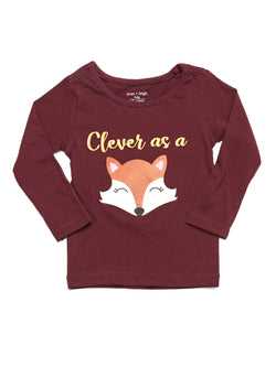 Infant Fox Graphic Long Sleeve Tee