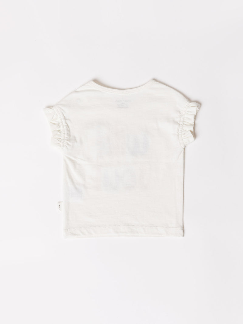 Infant Wild Soul Graphic Ruffle Sleeve Tee