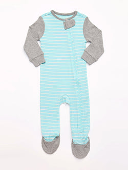 Infant Colorblock Striped Footie Pajamas