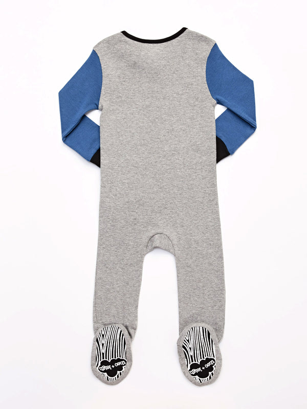 Infant Colorblocked Footie Pajamas