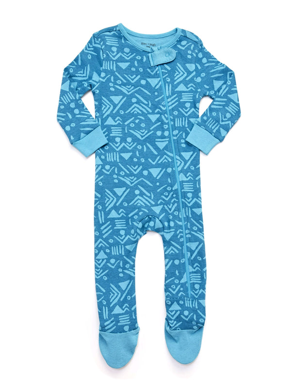 Infant Tribal Print Footie Pajamas