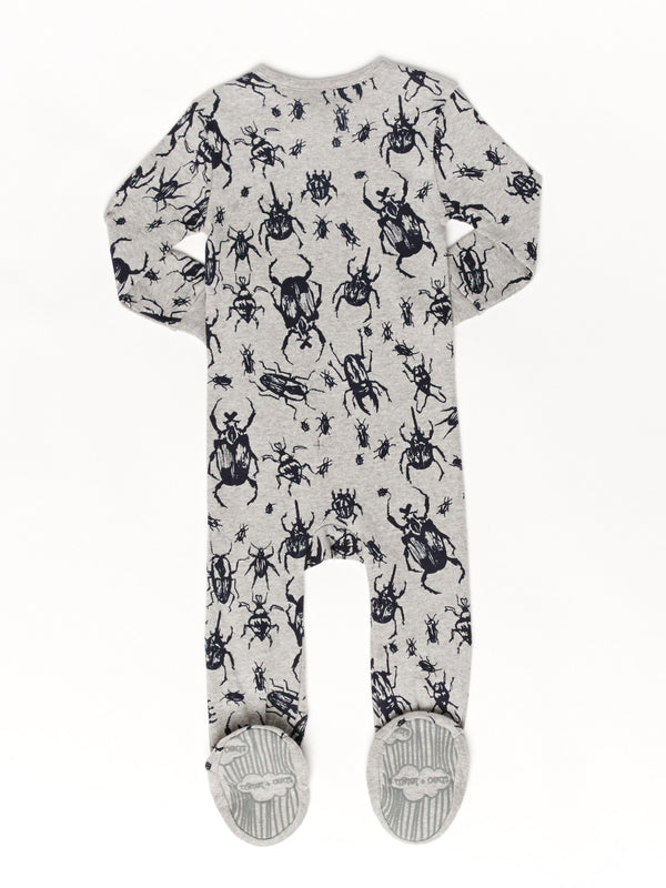 Infant Bug Print Footie Pajamas