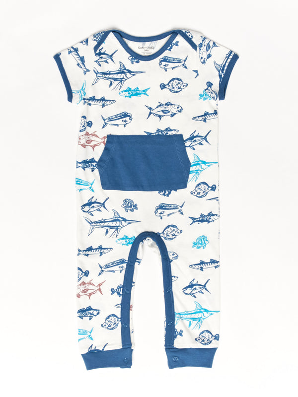 Infant Fish Print Pocket Jumper