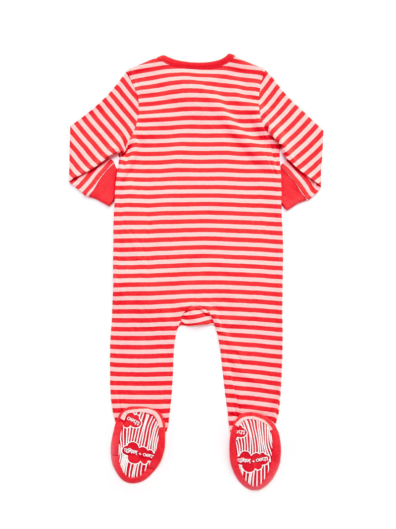 Infant Striped Footie Pajamas