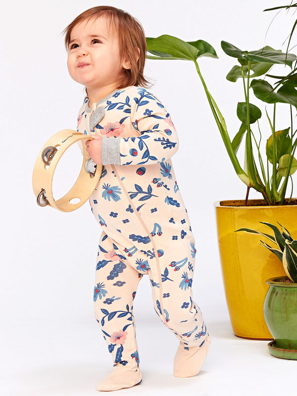 Infant Lucia Floral Footie Pajamas