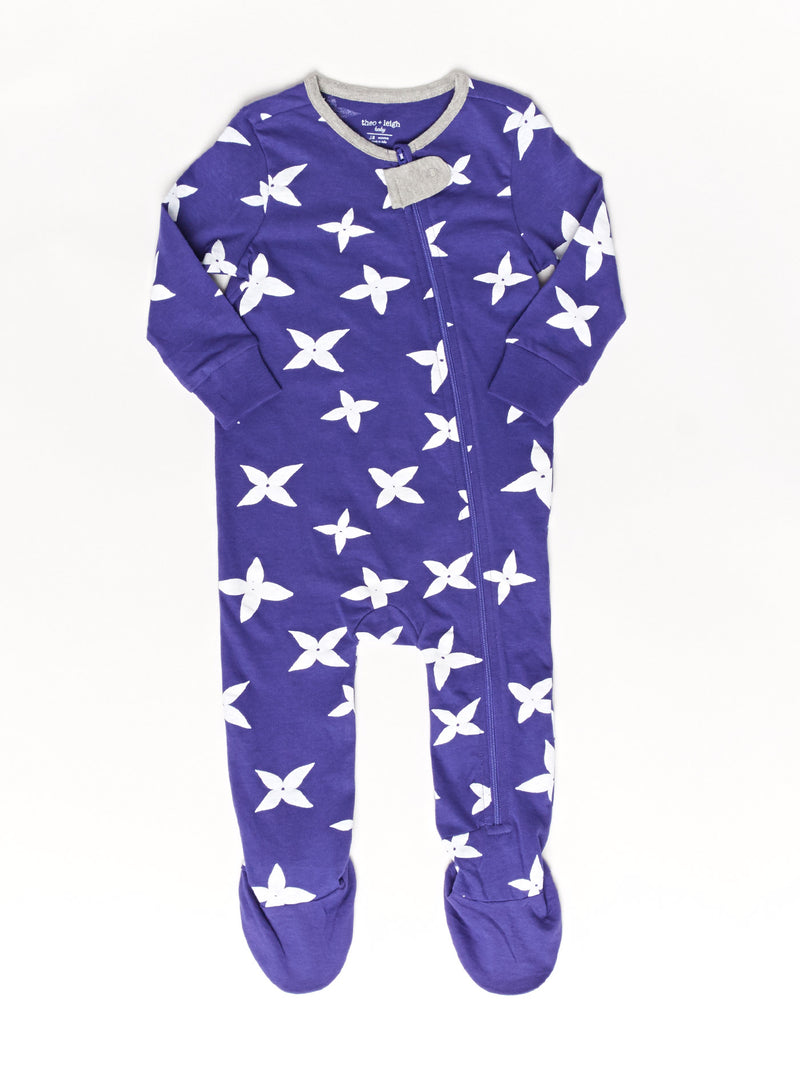 Infant Star Flower Footie Pajamas