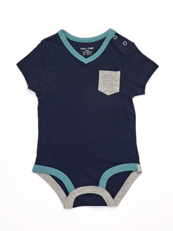 Infant Contrast Pocket One-Piece