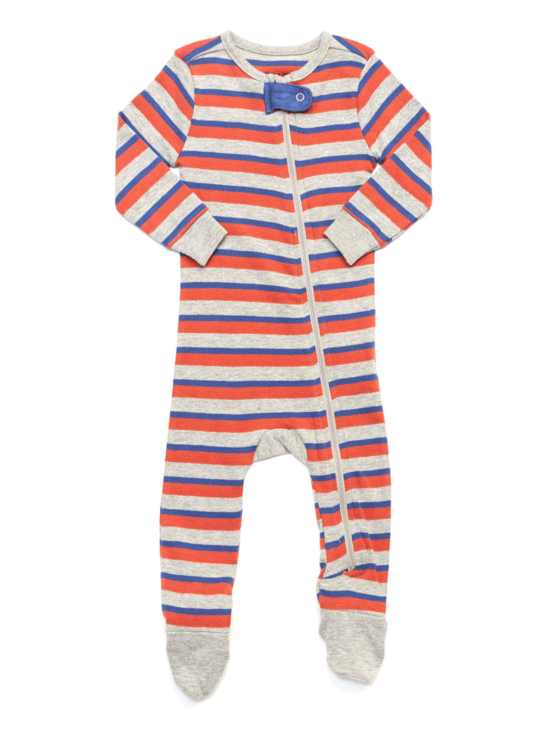 Infant Stripe Footie Pajamas