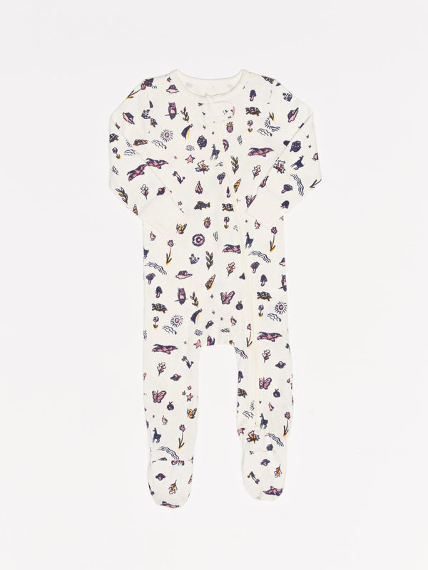 Infant Fall Floral Footie Pajamas