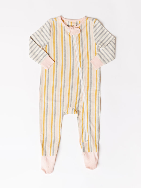 Infant Mixed Stripe Footie One-Piece