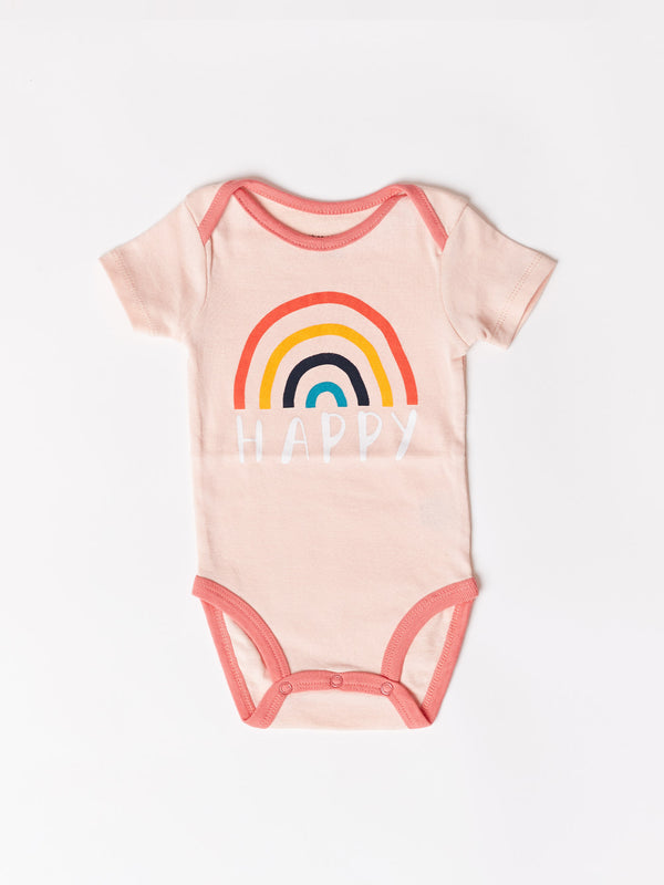 Infant Happy Rainbow Graphic One-Piece