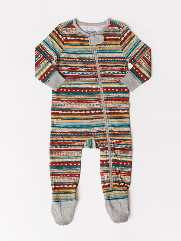 Infant Southwest Stripe Footie One-Piece
