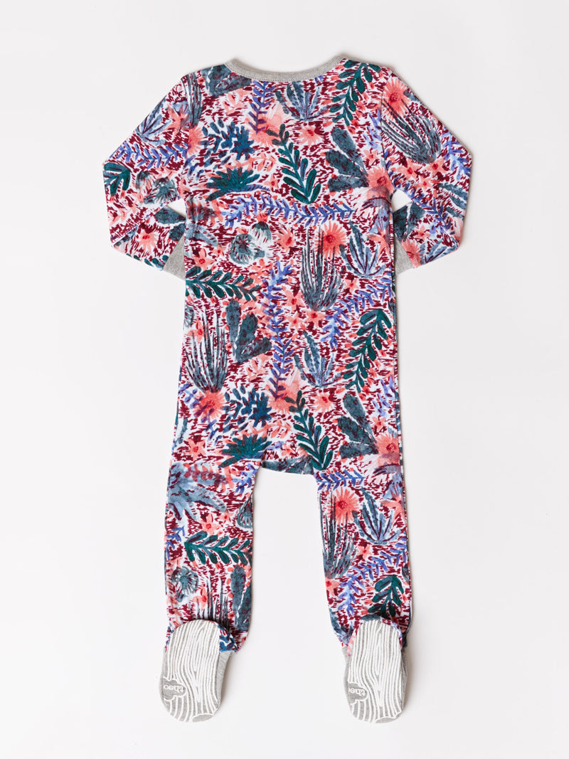 Infant Floral Cactus Footie One-Piece