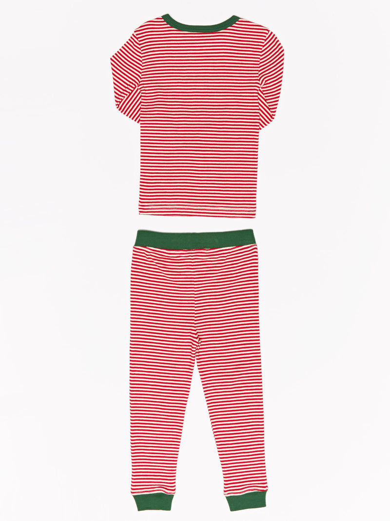 Kids Holiday Stripe Pj Set