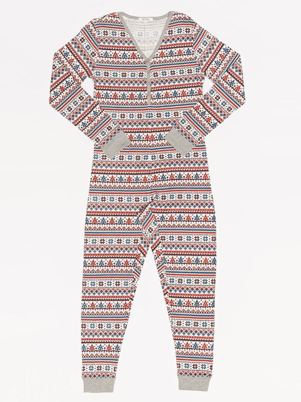 Women's Holiday Fair Isle One Piece Pajama