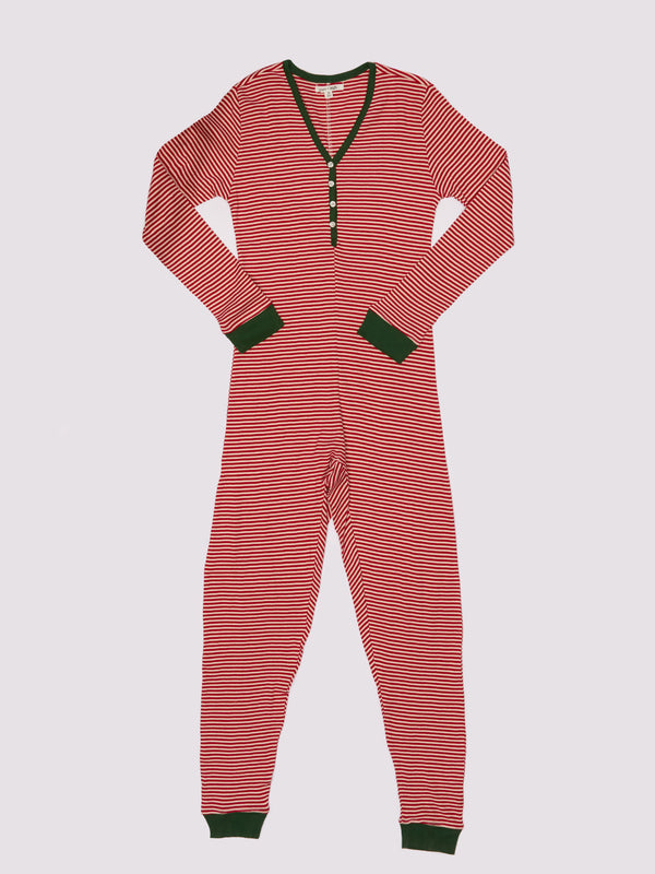 Womens Holiday Stripe Onesie