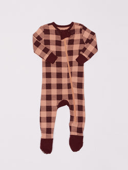 Infant Plaid Footie Pajamas