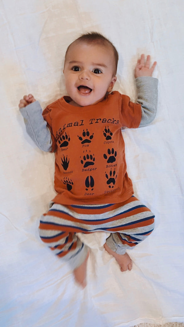 Infant Animal Tracks Graphic Long Sleeve Tee