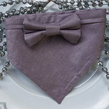 Load image into Gallery viewer, Amethyst // Troy Bow Tie & Belle Bandana Duo